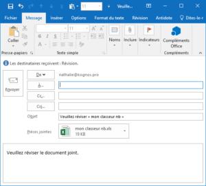 Partager un classeur Excel, boutons hérités veuillez réviser.