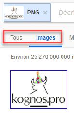 Recherche par image - résultat