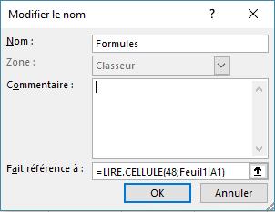 cellules avec formules